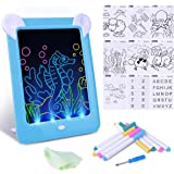 Tableta de Escritura LED Pizarra Mágico con Luz para Niños, Tablero de Dibujo Mágico con Luces, Juguete Educativo Infantil Di