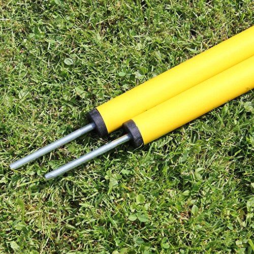 Slalomstange 100 cm lang, ø 32 mm, in 3 Farben, für Agility - Hundetraining (gelb)