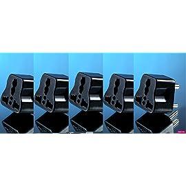 Grahini Universal Travel Adapter 3 Pin Multiplug Multiple Socket Extension Board  Set of 5
