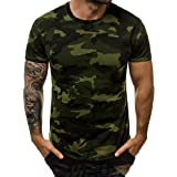 Abtel Men's Camouflage Short Sleeve T Shirts Crew Neck Casual Camo Printed Summer Tops Slim Fit Basic Tee Shirt Blouse Pullov