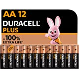Duracell - NOUVEAU Piles alcalines AA Plus, 1.5 V LR6 MN1500, paquet de 12