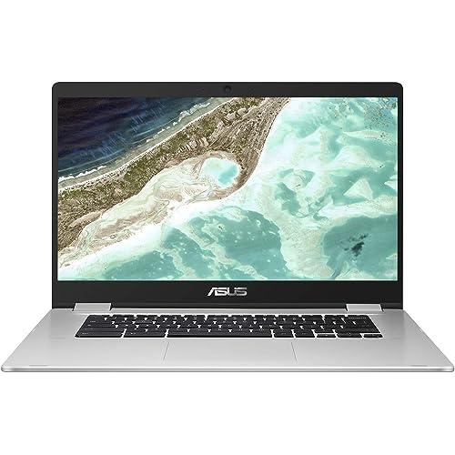 "ASUS Chromebook C523NA#B08CS7XGNX, Notebook in alluminio con Monitor 15,6"" HD Anti-Glare, Intel Celeron N3350, RAM 4GB, 64GB eMMC, Sistema Operativo Chrome, Argento"