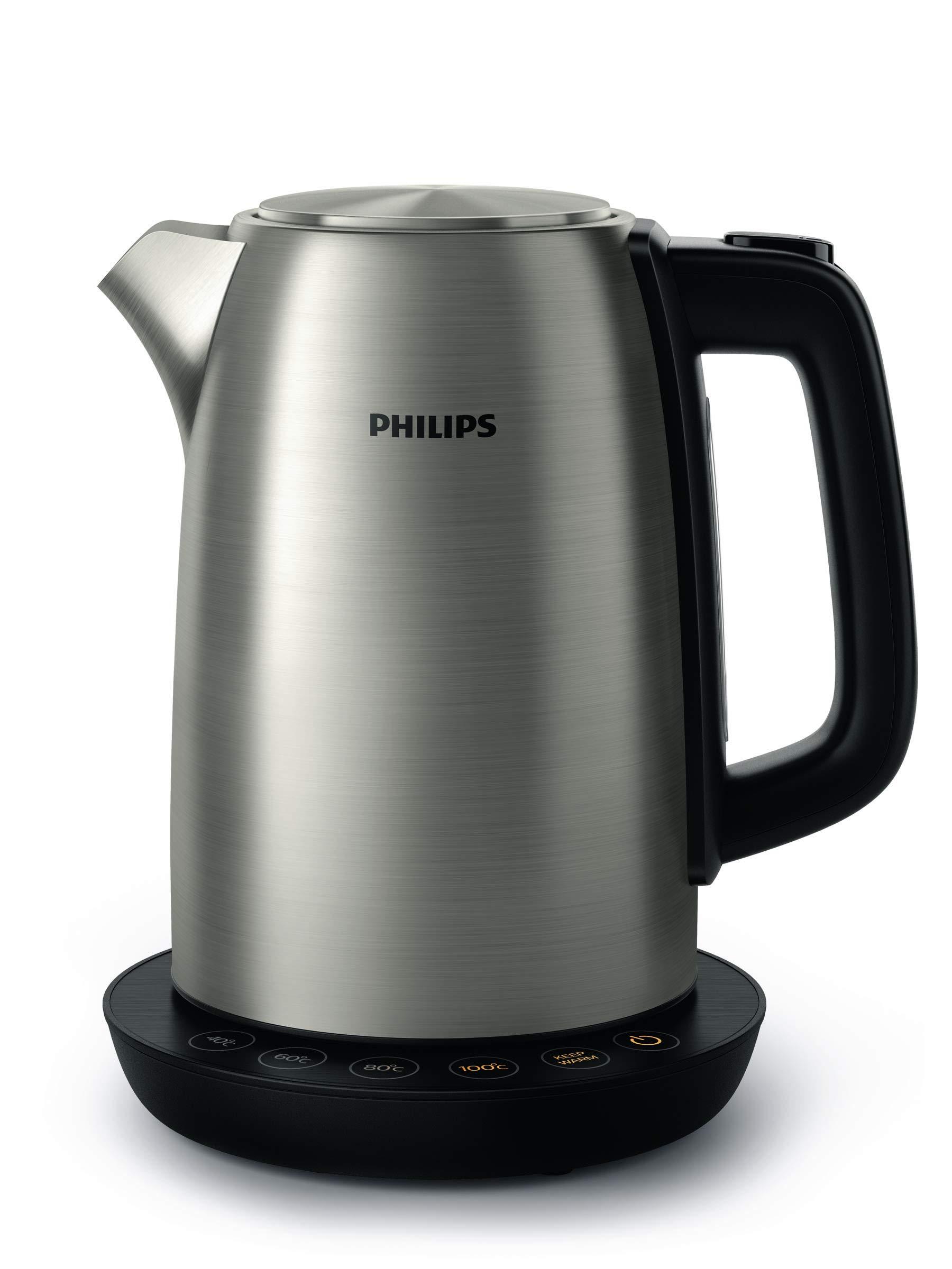 Philips-HD935990-Wasserkocher-aus-Edelstahl-fr-Tee-bis-Babynahrung-2200-Watt-17-Liter-Warmhaltefunktion