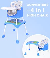 R for Rabbit Cherry Berry Grand - The Convertible 4 in1 High Chair for Baby/Kids (Blue)