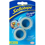 Sellotape On-Hand Refills, Extra Strong Adhesive Tape, Clear Tape Refills for Arts & Crafts, Strong Tape for the On-Hand Tape