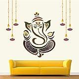 StickMe 'Shree Ganesh - Ganesha - Ganpathi Colourful Wall Sticker' -SM081 (PVC Vinyl - 85cm X 75 cm)