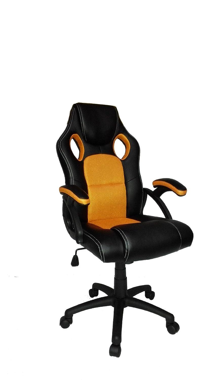 Racing Office Computer Desk Chair Bucket Seat (Orange U0026 Black):  Amazon.co.uk: Office Products