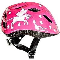 Sport Direct Kinder-Fahrradhelm fliegendes Einhorn Mädchen rosa Einhorn 48 – 52 cm