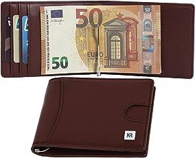 KRONIFY Geldbeutel Männer mit Münzfach und RFID Schutz, Schlankes Portmonaise Herren mit Kleingeldfach, Geldbörse Kartenetui Slim-Wallet