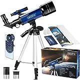 Teleskop für Kinder und Einsteiger für Beobachtung von Himmel und Landschaft- 70mm fernrohr Teleskop Astronomisches Mit verst