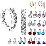 HUYURI Ohrringe Geschenke für Frauen,Ohrstecker für mädchen,Funkelnde Zirkonia Creolen Damen Ohrringe,Basic Minimalist Schmuc