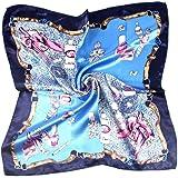 MESHIKAIER Donna Piccolo Sciarpa Quadrato Raso Fazzoletto da Collo Mini Foulard 50x50cm