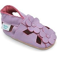 Dotty Fish Unisex Baby Purple Flower Sandals Soft Sole