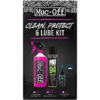 Muc-Off Kit de Nettoyer, Protéger, Lubrifier pour Vélo Nettoyage Mixte Adulte, Noir, 1,45 L