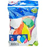 Susy Card 40011585 - Palloncini, 50 pezzi, in lattice, colori assortiti
