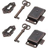 MOPOIN Vintage kastdeurslot, kastslot antiek meubelslot met sleutel voor brievenbussen, slotvakken, kasten, gereedschapskist