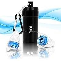 Capeos Ohrstöpsel [2x] Ohrenstöpsel - Gehörschutz Ohrstöpsel Zum Schlafen in Metalldose mit Karabiner - inklusive Aufbewahrungsbox - Bürste zur Reinigung