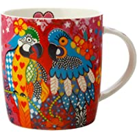 Maxwell & Williams DX0666 Love Hearts Animal Mug with Araras Design, Gift Boxed, Porcelain, Pink, 370 ml