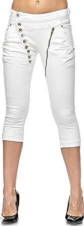 Elara 3/4 Jeans Donna Stretti Vita Alta Capri Chunkyrayan