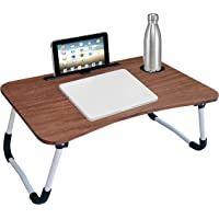 OFIXO Multi-Purpose Laptop Table/Study Table/Bed Table/Foldable and Portable Wooden/Writing Desk (Wooden)