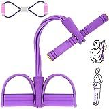 AJOXEL Magtränare, expanderande pedalresistensband elastiskt dragrep hem träningsutrustning buken sittande bodybuilding träni