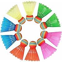 HOSPAOP Badminton Federbälle, Badminton Bälle Kunststoffbälle, Badminton Federbälle mit Hoher Stabilität und Haltbarkeit…