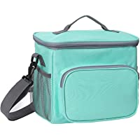Esonmus Insulated Lunch Bag,Cooler Bags for Women Leakproof Fresh Keep Cool Lunch Bag for Lunch Food,School,Office,Picnic with Detachable Shoulder Strap 10L (Blue)