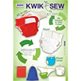 KWIK-SEW PATTERNS K3685OSZ Size 28 x 52-inch Crib Comforter/Skirt/Fitted Sheet/Bumper Pad and Diaper Stacker, Pack of 1…