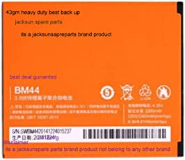 jacksunspareparts Heavy Compatible with BM44 2200mAh Mobile Battery for Xiaomi Redmi 2, 2s, 2 Prime,43gms Weight,(Orange)