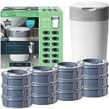 Tommee Tippee Starter set Mangiapannolini Avanzato Twist and Click, Sistema Più Ecologico con 12 Ricariche con Pellicola GREE