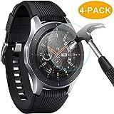 CAVN Samsung Galaxy Watch 46mm Panzerglas Schutzfolie [4-Stück], Compatible with Samsung Gear S3 Frontier/Classic, Wasserdichtes Glas [9H Härte] [Anti-Kratzen] [Anti-Öl] [Anti-Bläschen] [HD Klar]