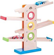 Wonderworld Kid's Wooden Tumble Car Ramp Toy Set, 18 Months (wwptc-001)