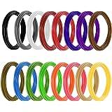 Meterk® Filaments d'impression 3D Stylo PLA Φ 1,75 mm, 16 Couleurs Chaque 6.1 m (320 Pieds au Total) Filaments écologiques Non Toxiques et inodores