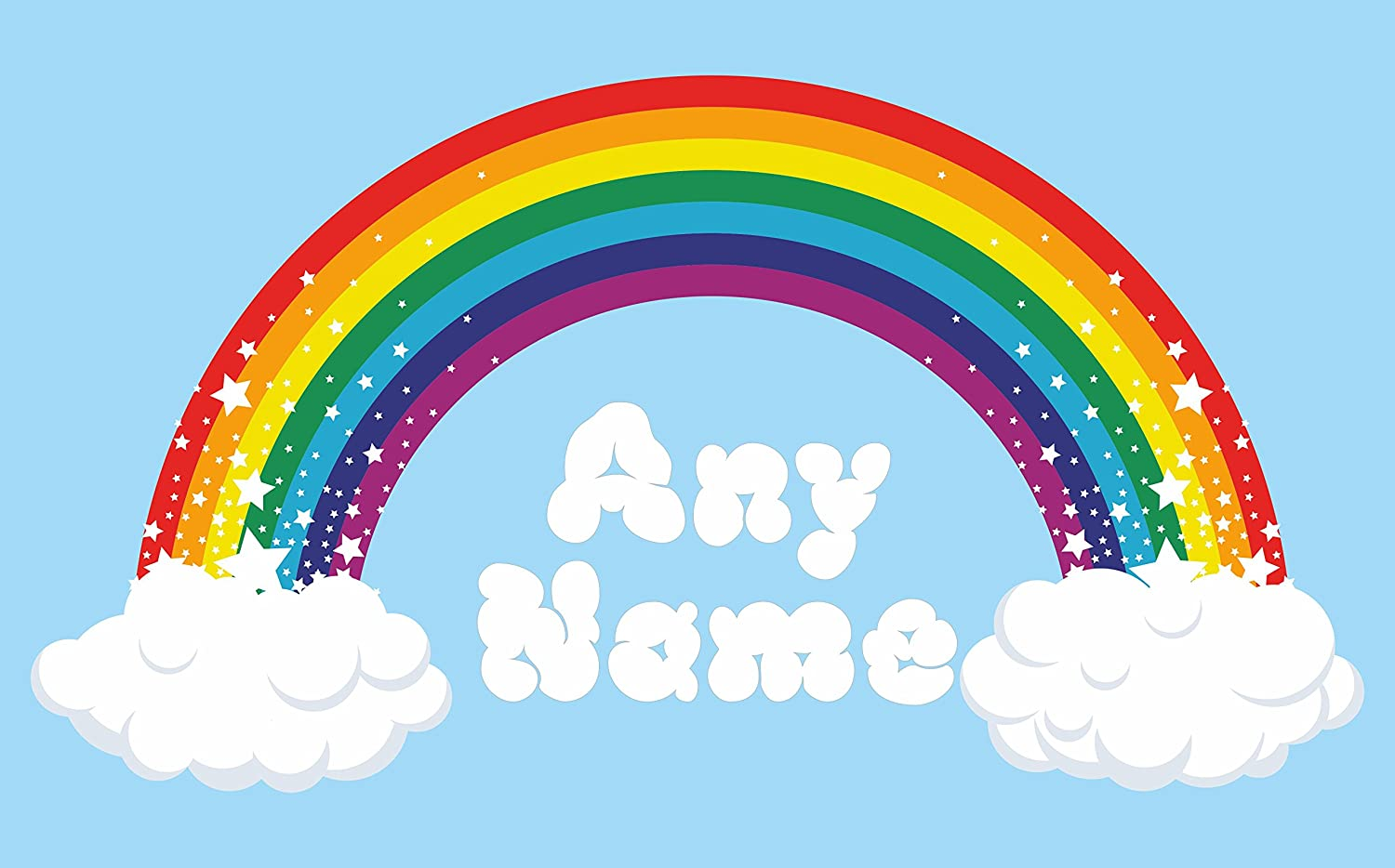 Delicieux Rainbow Wall Art. Choose Any Name Vinyl Sticker 3 Sizes, Full Colour Decal  (Large: 100cm X 54cm) (Large: 100cm X 54cm): Amazon.co.uk: Baby
