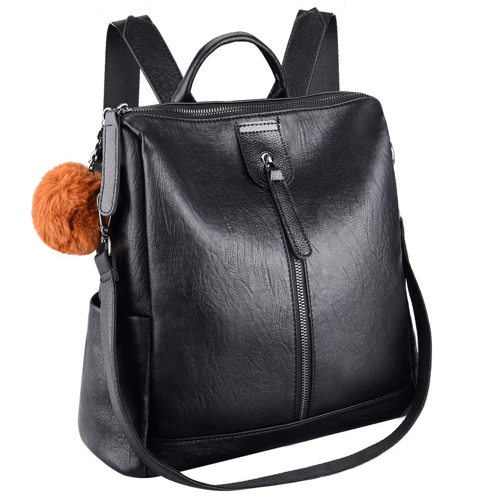 71mvO6j L2L - VBIGER Bolsos mochila mujer Antirrobo Mochila de Cuero PU Mano Mochilas Casual Bolsa Bandolera Messenger Bag Backpack…
