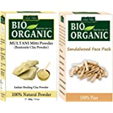 Indus Valley 100% Organic Combo Set of Multani Mitti & Sandalwood Face Pack 300g