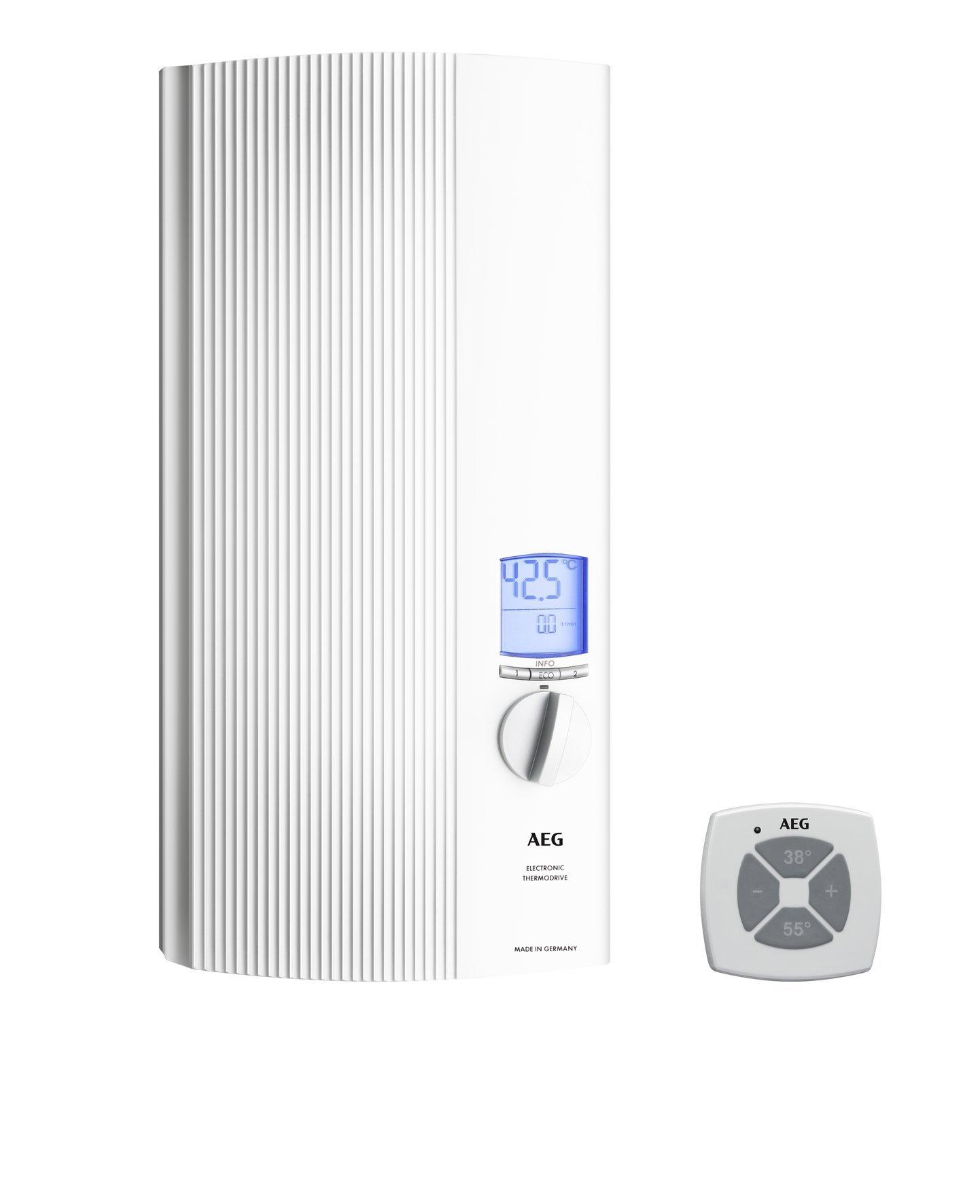 AEG 222399 DDLE ÖKO TD 27 – Calentador de agua eléctrico(27 kW, 400 V), color blanco