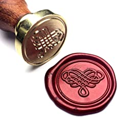UNIQOOO Arts & Crafts Elegant Love Heart The Knot Wax Seal Stamp, Great for Embellishment of Cards Envelopes, Wedding Invitations,Valentine's Day Engagement, Wine Packages, Gift Idea