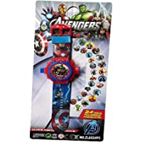 Fitro Digital 24 Images Spiderman,Ben10,Bahubali,Avengers,Barbie Projector Watch for Kids Boys & Girls, Diwali Gift, Birthday Return Gift (Color May Vary)
