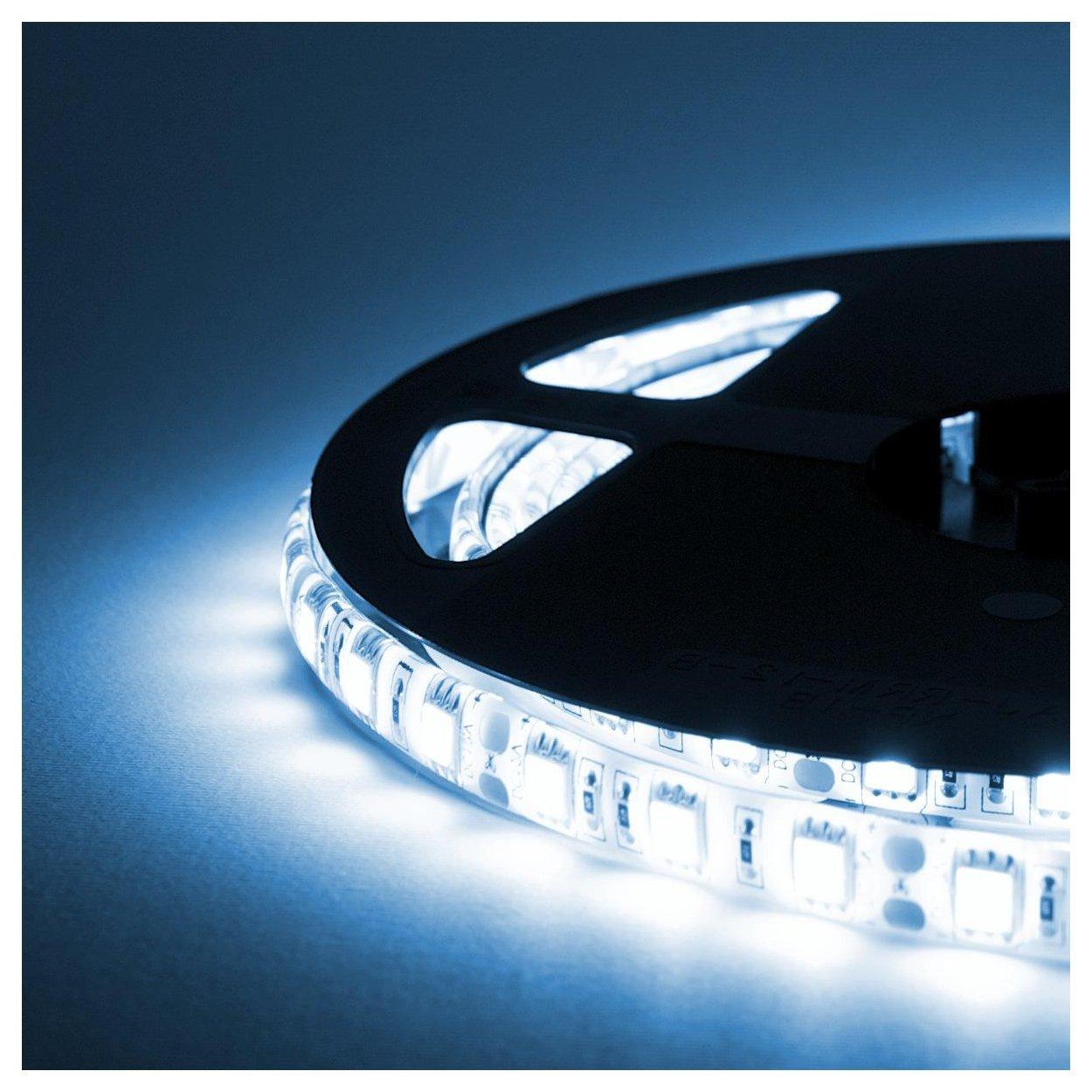 Striscia LED - 5 Metri - 72W - SMD5050 BIANCO FREDDO - 300 LED ...