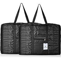Kuber Industries Fabric 73 cms Black Jumbo Attachi Set Of 2 Pcs (VARSKI6432)