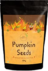 Raw Essentials Roasted and Salted Pumpkin Seeds, 400g