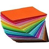 TRIXES lot de 40 feuilles de feutre multicolores pour des travaux d'art et d'artisanat - feutrine couleur pour loisirs créati