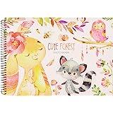 MEMX Bloc Dibujo, A4 Cuaderno de Bocetos, 21 x 29 cm, 100 Páginas (110 g / m²), Encuadernación en Espiral, Bloc de Bocetos pa