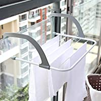 Kevim Stainless Steel, Plastic Balcony Cloth, Towel, Shoes, Plant Holder Hanging Dryer Racks for Indoor Outdoor…