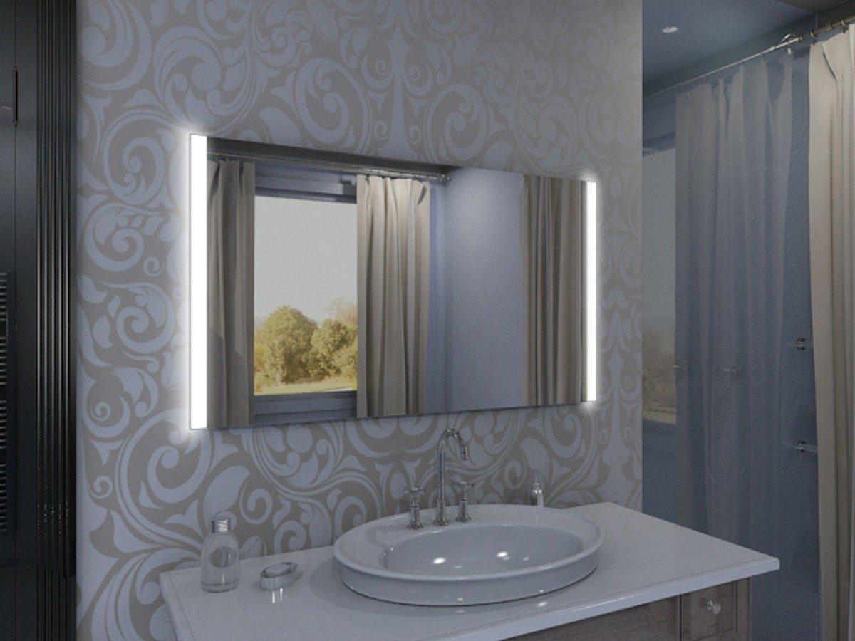 Badspiegel mit Beleuchtung Iona M313N2V: Design Spiegel für ...