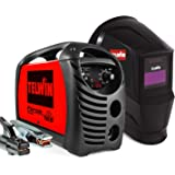 Telwin 815863 Force 165 invertersvetsmaskin för elektrodsvetsning komplett med automatisk svetshjälm och svetstillbehör, 230