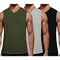 COOFANDY Men's Tank Top Cotton 3 Pack Athletic Undershirt for Running Workout Sport Fitness