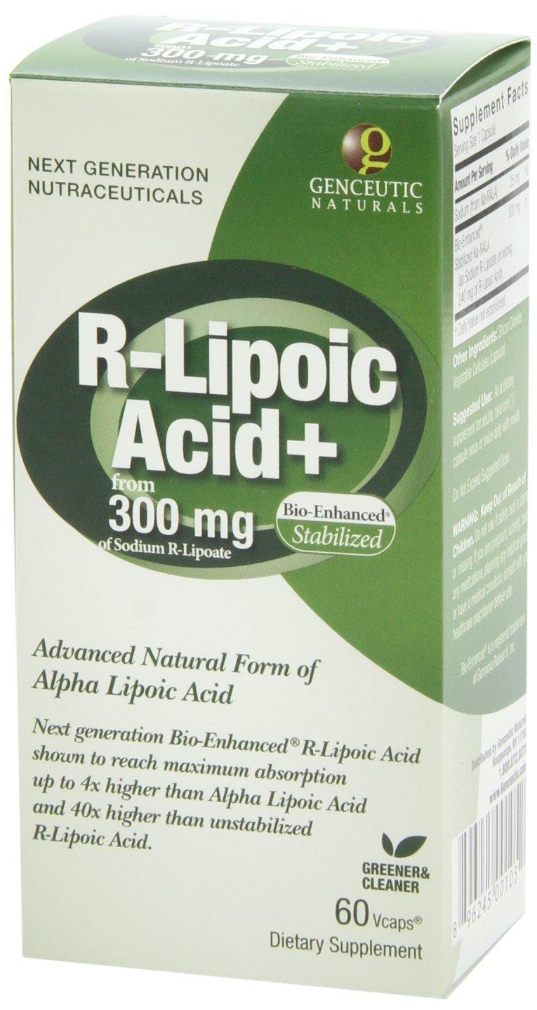71myRPElM9L - Genceutic Naturals R-Lipoic Acid 300 Mg, 60-Count