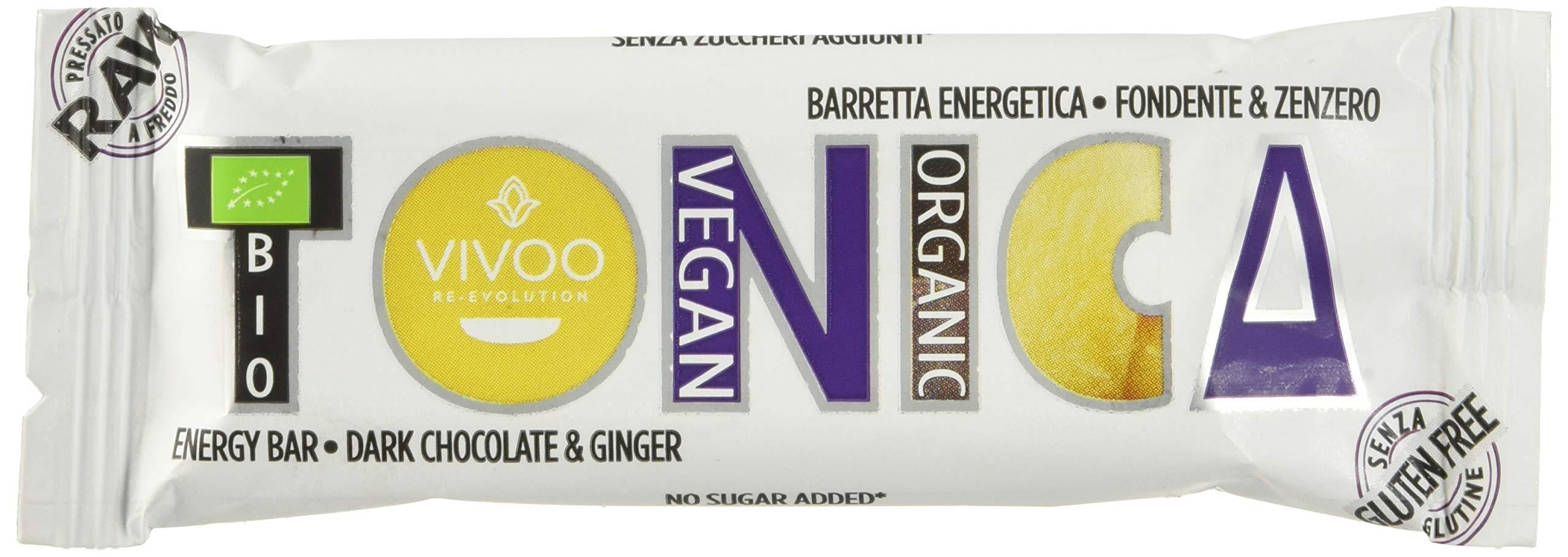 Vivoo Tonica - Barretta Energetica - Fondente e Zenzero - 16 Confezioni da 35 g 1 spesavip